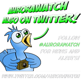 Aurorawatch now on twitter!