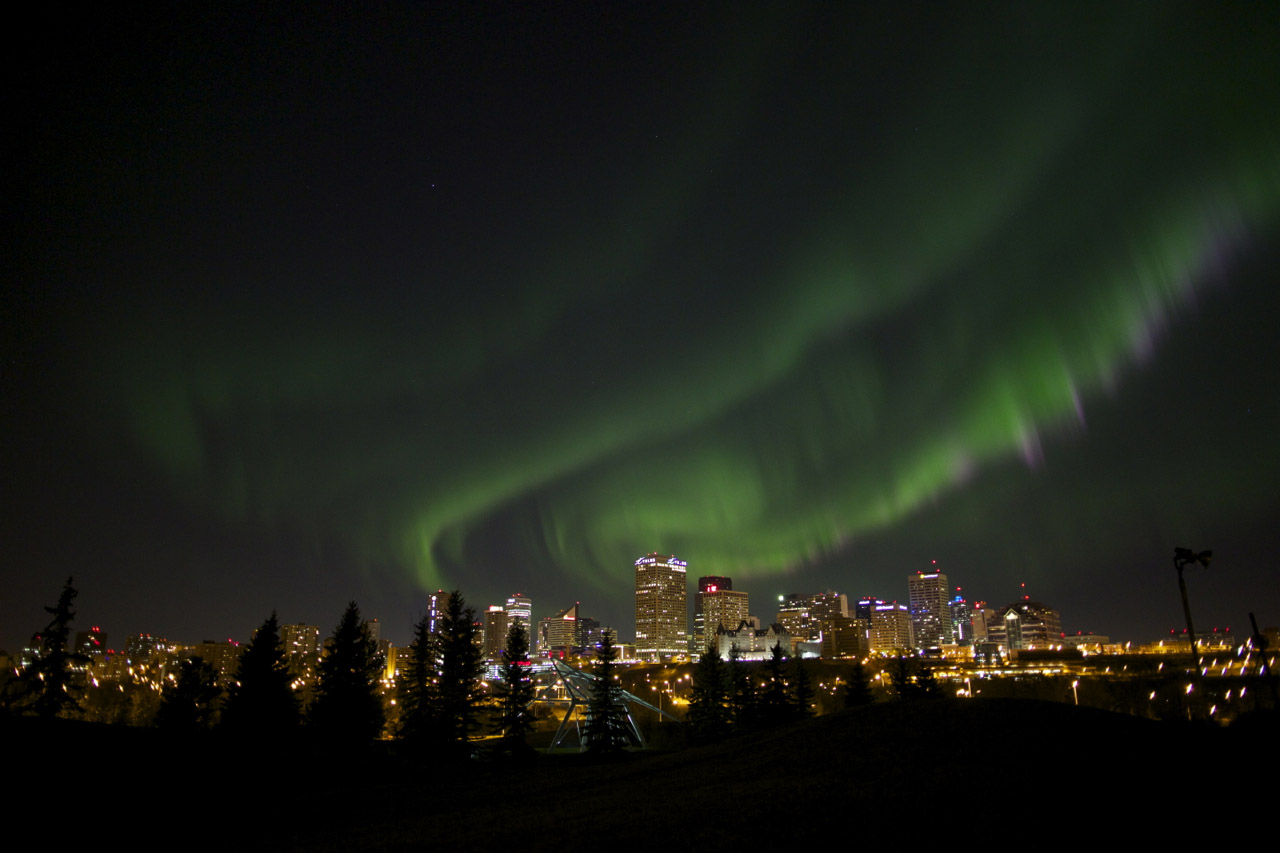 Northern Lights Skyline And The Northern Lights