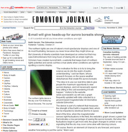 Article in Edmonton Journal